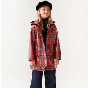 Zara - vinyl trench coat in size size 7